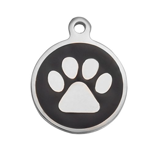 service dog engraved round id tag - 9