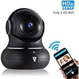 1080P Wireless Indoor IP Camera - Littlelf WiFi Home Security Surveillance IP Camera with PTZ, 2-Way Audio, Night Vision, 3D Navigation Panorama, Remote Monitoring with iOS and Android, Cloud Service