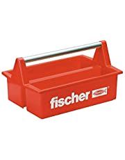 Fischer gereedschapskist plastic rood