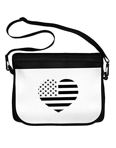Patriotic Heart Stamp (TooLoud American Flag Heart Design - Stamp Style Neoprene Laptop Shoulder Bag)