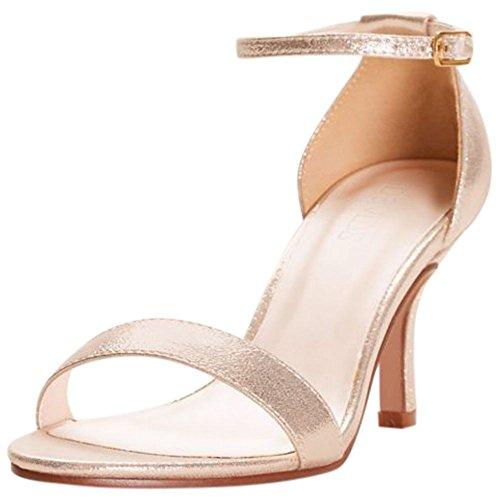 David's Bridal Single Strap Sandal Style Nayomi, Gold Metallic, 9