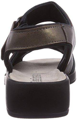 Comfortabel 710 - sandalias abiertas de cuero mujer dorado - Gold (Gold)