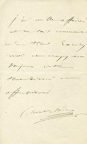 Camille Saint-saens – Autograph Letter Signed 12/15/1880
