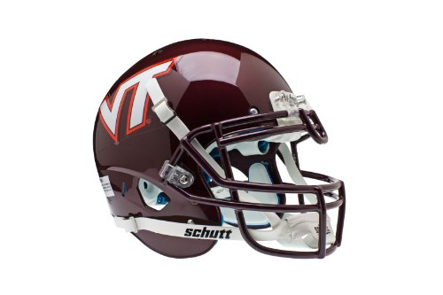 NCAA Virginia Tech Hokies Authentic XP Football Helmet, Full Size by Schutt