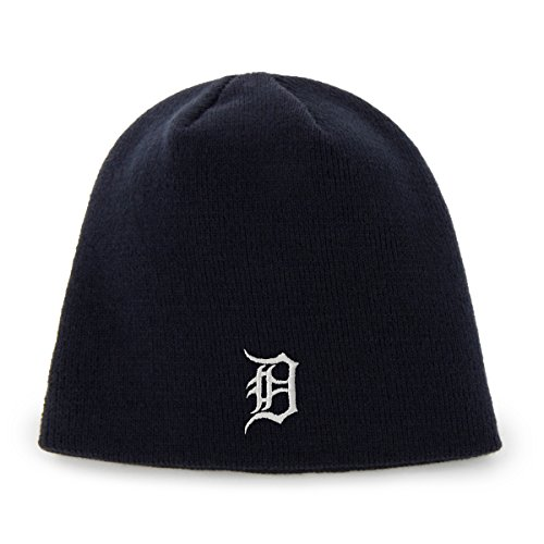 Mlb Detroit Tigers 47 Beanie Knit Hat  Navy  One Size