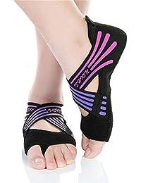 Women's Bellarina Shoes Half Toe Grip Non-Slip for Ballet Yoga Pilates Barre