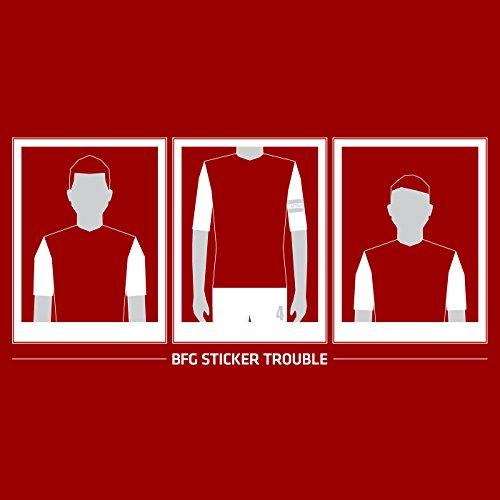 """SpielRaum T-Shirt Per Mertesacker, """"BFG Sticker Trouble"""" ::: Größen: S-XXL"""