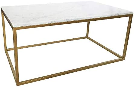 MUEBLES MARIETA OLD STYLE NOW Mesa mármol Blanco Carrara: Amazon ...