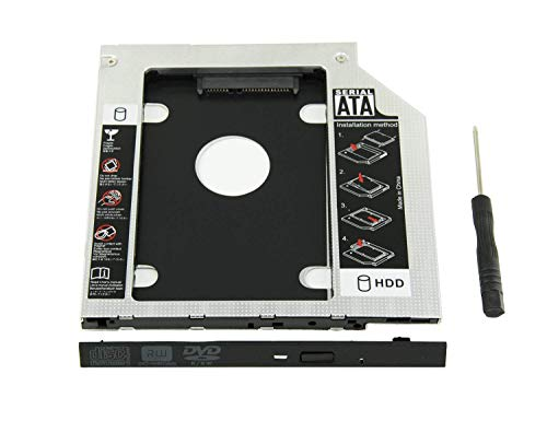 Gibbon Optical Bay 2nd Hard Drive Caddy, Universal for 9.5 mm CD/DVD Drive Slot