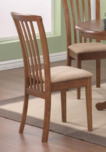 101092 Brannan Side Chair with Upholstered Seat in Warm Maple Finish (Set of For Sale