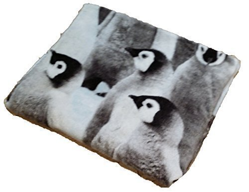 LUXURIOUS PENGUINS PURE 100% COTTON WHITE BLACK BLUE HAND TOWEL 50 X 85CM