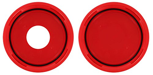 Replacement Lid And Gasket Set Fits FerMonster 1 Solid Lid and 1 Lid With Hole plus 2 Gaskets