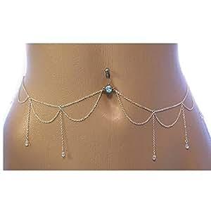 jy jewelry wave body piercing chain belly