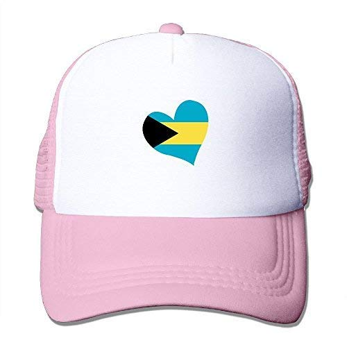YALING Bahamas Flag Unisex Fitted Mesh Hat Baseball Caps Black KellyGreen