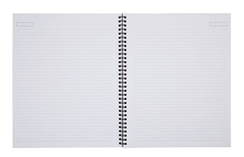 Office Depot Wirebound Notebook, 8 7/8in. x 11in, 1 Subject, Narrow Ruled, 160 Pages (80 Sheets), Black, ODUS1402-027