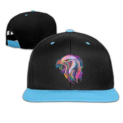 (Hip Hop Baseball Caps Graffiti Eagle Color Trucker Flat Hat for Boy Girls)
