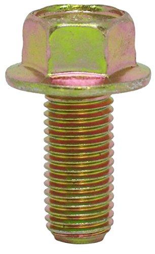 25mm Bolts ((12pcs) M10X1.25X25 mm JIS Hex Head Flange Bolt - 14mm Small Wrench, Class 10.9 Yellow Zinc by BelMetric BF10X1.25X25YLW)