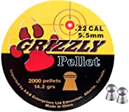 Grizzly .22 Pellet 250PK Round/Dome Head Match Grade 2000 Pack