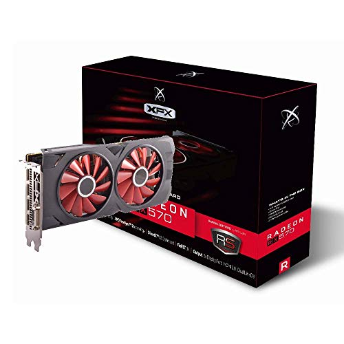XFX Radeon RX 570 RS XXX Edition 1286MHz, 8gb GDDR5, DX12 VR Ready, Dual BIOS, 3xDP HDMI DVI, AMD Graphics Card (RX-570P8DFD6) (The Best Graphics Card)