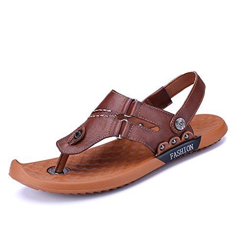 Brown Conforto Casual Pantofole, I Sandali, Dei Sandali Di Cuoio,Marrone Scuro,Eu42