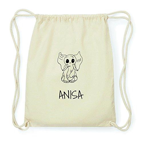 JOllipets ANISA Hipster Turnbeutel Tasche Rucksack aus Baumwolle Design: Elefant brQjx0M