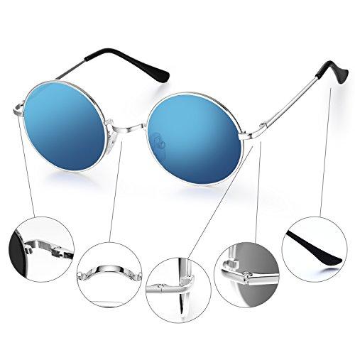 De Pour Cercle Lennon Bleu Style Ezil Femmes Polarisé Hommes Rond Menton Et Cru Hippie Soleil Petit Lunettes John q0OEExHI