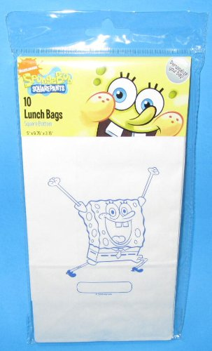 50 Spongebob Squarepants Paper Lunch Bags -