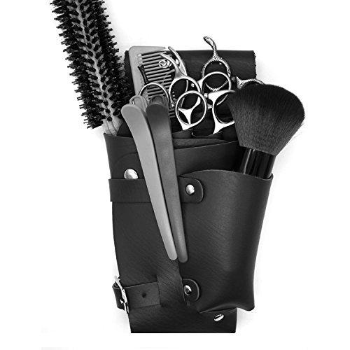 Bolsa con Cinturón 6 Bolsillos Hecho de PU Peluquero Estética Belleza Hogar