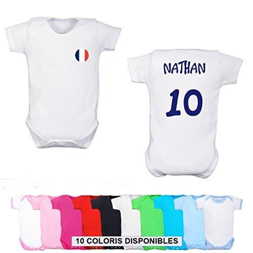 Body personnalisé Foot France et prénom