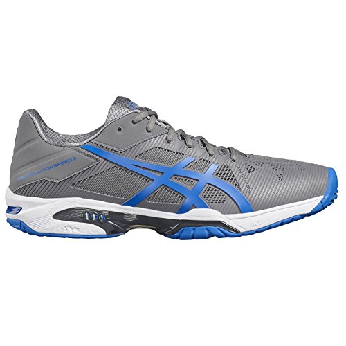 Asics Gel-Solution Speed 3, Zapatillas de Tenis para Hombre, Azul Gris (Aluminum/electric Blue/white)