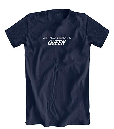 Valencia Oranges Queen T-Shirt, Men's, Navy - Medium (Valencia Queen)
