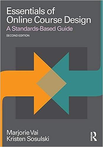Essentials Of Online Course Design Essentials Of Online Learning Vai Marjorie Sosulski Kristen 9781138780163 Amazon Com Books