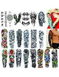 (Full Arm Temporary Tattoos 20 Sheets,Tattoo Sleeves for Men and Women Waterproof Fashion Removable Extra Large Temporary Tattoos Stickers)