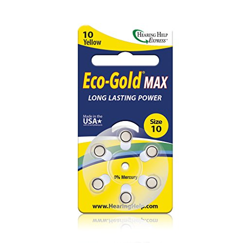 Eco-Gold Max Hearing Aid Batteries Size 10 (36 total batteries)