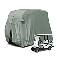 [Newest] 4 Passenger Outdoor Golf Cart Cover for EZ GO,Club Car, Yamaha, Movaland Custom Cart Cover with Extra PVC Coating Waterproof Dust Prevention