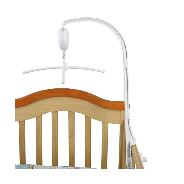 HLEEDUO Baby Crib Bell Bed Bell Bracket Music Box Bracket arm Baby Bed Stent kit Baby Mobile (28″)