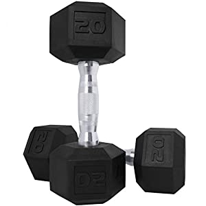 CAP Barbell SDP-025 Color Coated Hex Dumbbell, Black, 25 pound, Single