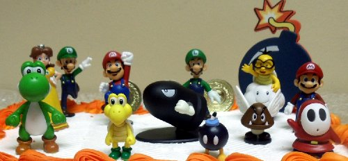 Nintendo Goomba Toys N Joys : Mario brothers birthday party piece cake