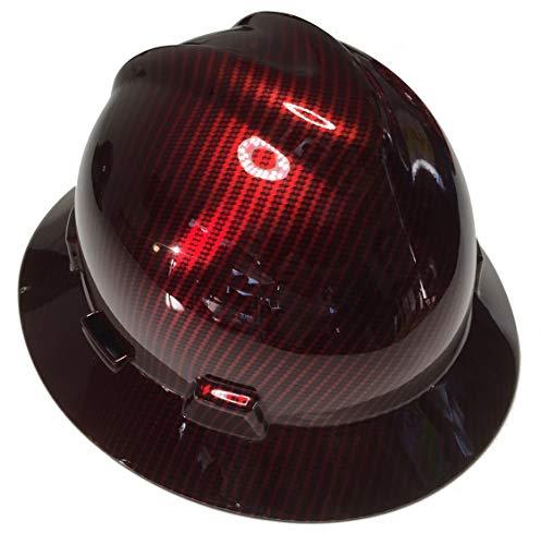 Hard Hat MSA V-Gard Full Brim Custom Red