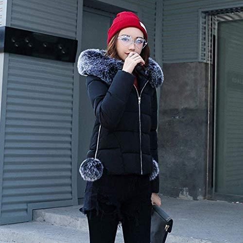 Doudoune Fashion Manteau Doudoune Longues Slim Hiver Capuchon Manches Fit avec Fourrure El Femme Z4qTwPrxZ