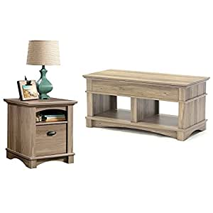 Sauder harbor view lift top coffee table for Coffee tables amazon