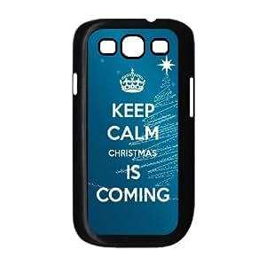 Keep Calm Christmas Is Coming Samsung Galaxy S3 9300 Cell Phone Case Black DIY Present pjz003_6624496