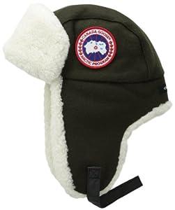 Amazon.com : Canada Goose Merino Wool Shearling Pilot Hat ...