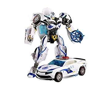 1 pcs Transformers police car Prowl Garage Kits toys Transform kids toys