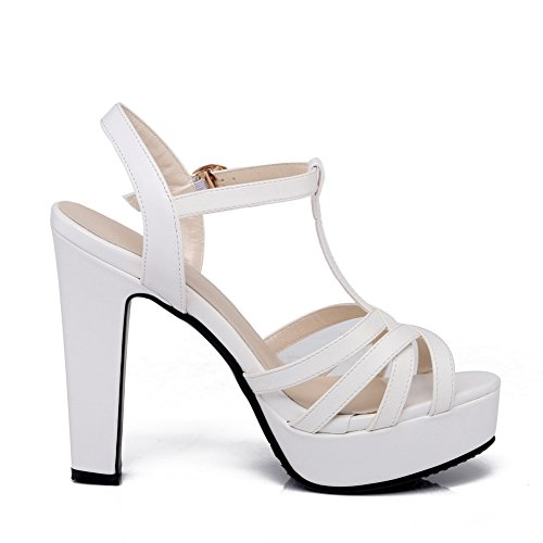 5 Femme 36 SLC04107 EU Blanc Blanc AdeeSu Bout Ouvert xZ104w