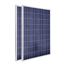 ECO-WORTHY 200 Watt 2pcs 100w Polycrystalline Photovoltaic PV Solar Panel Module 12V Battery Charging