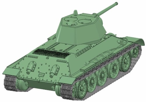 Zvezda 500785001 Maqueta de Tanque Ruso T34//76 Snap-Fit de la Segunda Guerra Mundial Escala 1:72