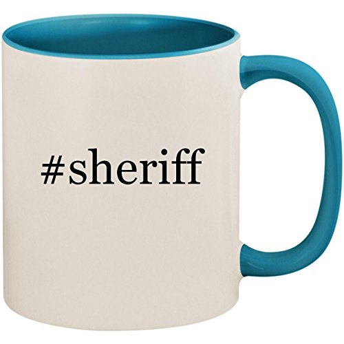 #sheriff - 11oz Ceramic Colored Inside and Handle Coffee Mug Cup, Light ()