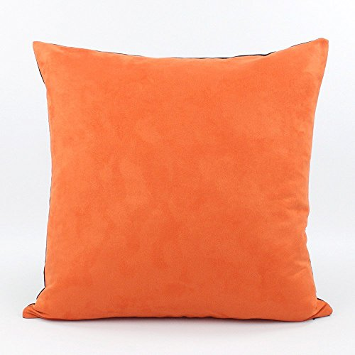 Urban Suede and Denim Decorative Handmade Pillow Cover, 20x20