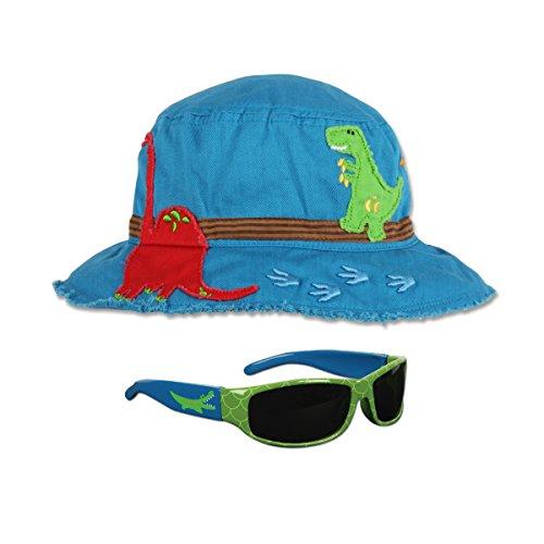 [Stephen Joseph Dinosaur Bucket Hat and Sunglasses Combo - Sun Hats for Kids] (Dinosaur Hats)